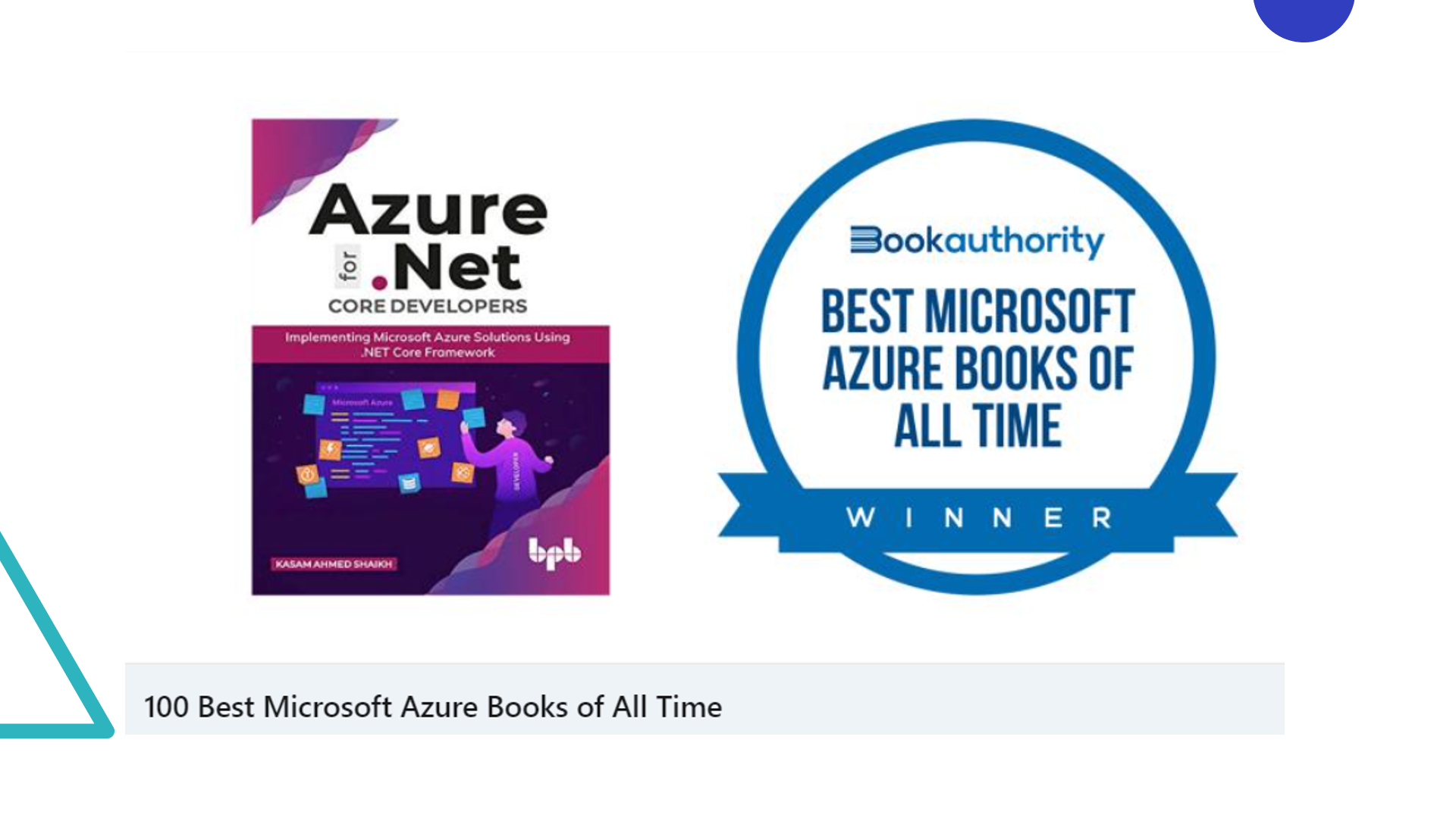 My Book 📚 – Azure for .NET Core Developers made it to the Best Microsoft Azure Books of All Time 👨🎓