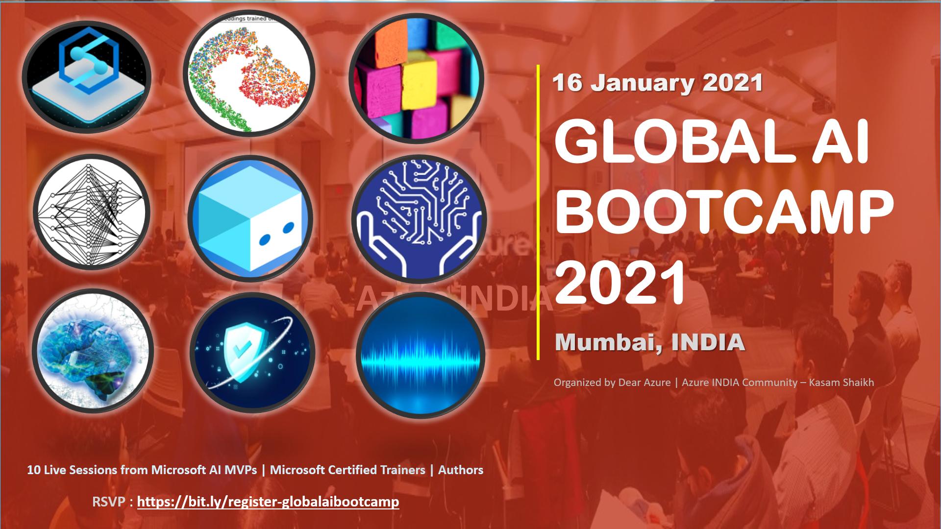 Global AI Bootcamp 2021 – Mumbai, INDIA – Virtual Event 2021